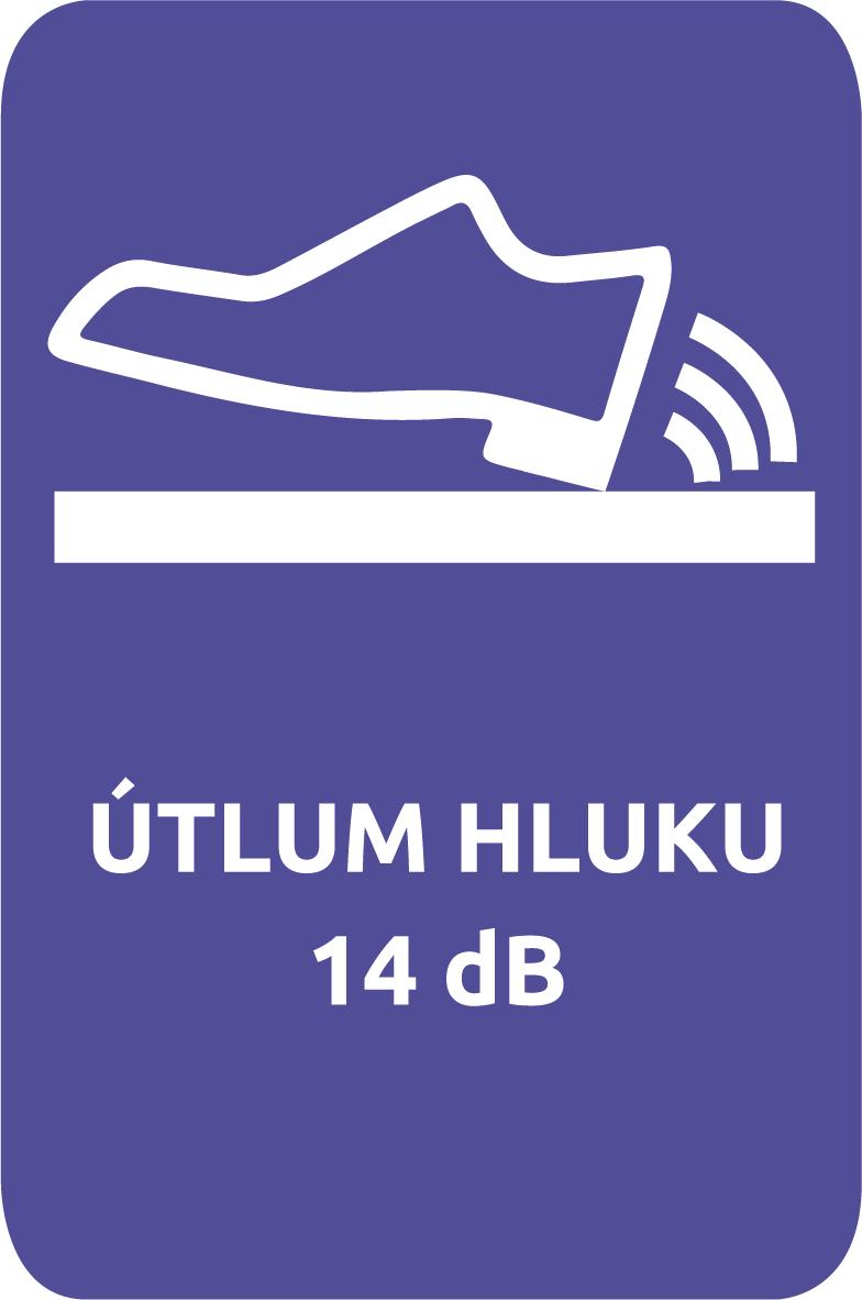 Vinylová podlaha Easyline Click má útlum hluku 14 dB
