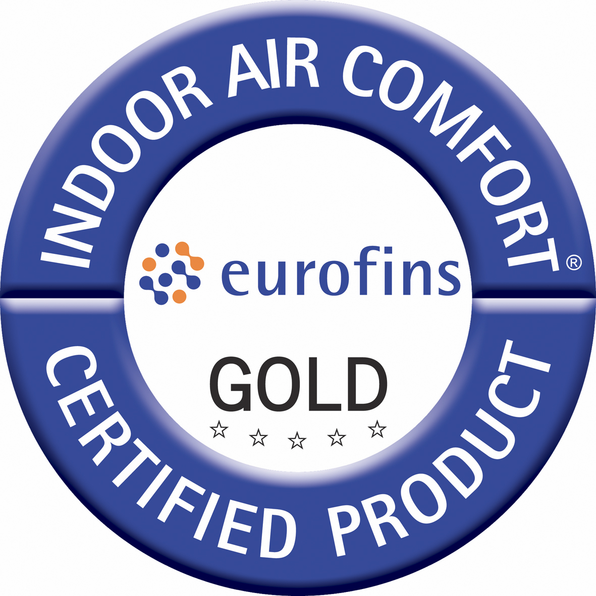 Certifikát Indoor Air Comfort Gold